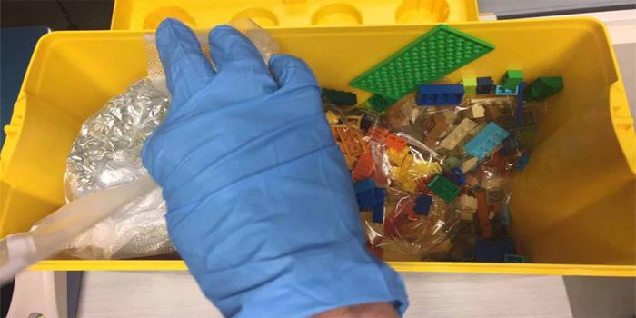 סמים בקופסאות לגו. צילום: דוברות המשטרה
