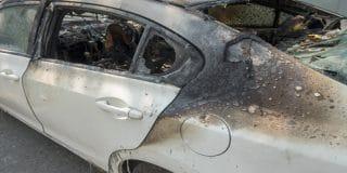 חשד: רכבו של כדורגלן קבוצת הפועל באר שבע הוצת במזיד
