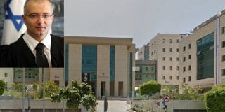 כתובת נאצה בגנות השופט אילן בן-דור התגלתה בחדר השירותים בבית המשפט בראשון לציון