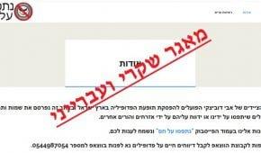 אתר pedozvalim.com – מאגר נתונים שקרי ובלתי חוקי לאיתור פדופילים
