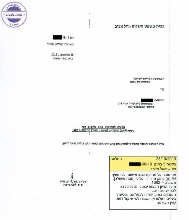 ביטול כתב אישום בעבירות תקיפת בת זוג